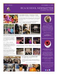 RCA Parent Newsletter